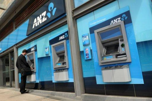 ANZ bank posted a first half net profit rise of 10 percent to Aus$2.92 billion