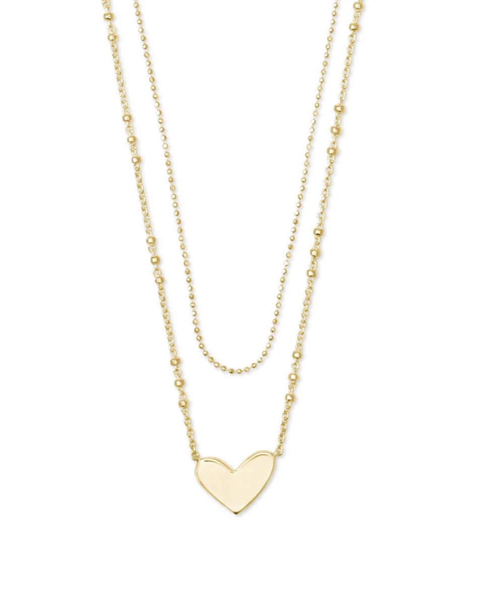 """<p>How charming is this <a href=""""https://www.anrdoezrs.net/click-8147292-11556495?url=https%3A%2F%2Fwww.kendrascott.com%2Fproducts%2Fari-multi-strand-necklace.html%3Fdwvar_ari-multi-strand-necklace_metal%3DSLV"""" rel=""""nofollow noopener"""" target=""""_blank"""" data-ylk=""""slk:engravable heart necklace"""" class=""""link rapid-noclick-resp"""">engravable heart necklace</a> from Kendra Scott? It's personalized and we love the detailing on the double-strand chain. </p> <p>$198, <a href=""""https://www.anrdoezrs.net/click-8147292-11556495?url=https%3A%2F%2Fwww.kendrascott.com%2Fproducts%2Fari-multi-strand-necklace.html%3Fdwvar_ari-multi-strand-necklace_metal%3DSLV"""" rel=""""nofollow noopener"""" target=""""_blank"""" data-ylk=""""slk:kendrascott.com"""" class=""""link rapid-noclick-resp"""">kendrascott.com</a></p>"""