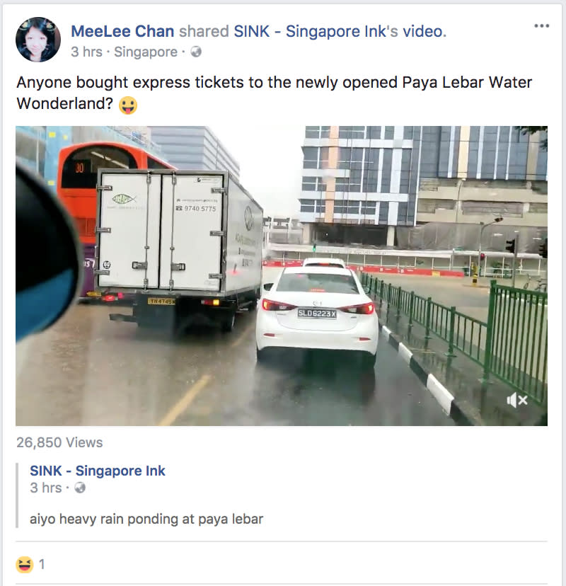 <p>MeeLee Chan: Anyone bought express tickets to the newly-opened Paya Lebar Water Wonderland? <br />(Photo: Facebook screengrab) </p>
