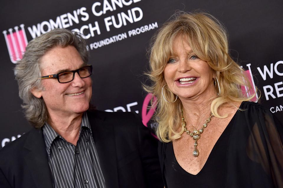 Kurt Russell and Goldie Hawn attend The Women's Cancer Research Fund's An Unforgettable Evening Benefit Gala at the Beverly Wilshire Four Seasons Hotel on February 28, 2019 in Beverly Hills, California. (Photo by Axelle/Bauer-Griffin/FilmMagic)