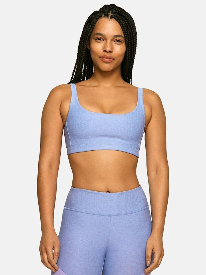 "<p>This <a href=""https://www.popsugar.com/buy/Outdoor-Voices-Double-Time-Bra-445158?p_name=Outdoor%20Voices%20Double-Time%20Bra&retailer=outdoorvoices.com&pid=445158&price=45&evar1=fit%3Aus&evar9=45597548&evar98=https%3A%2F%2Fwww.popsugar.com%2Ffitness%2Fphoto-gallery%2F45597548%2Fimage%2F46344554%2FOutdoor-Voices-Double-Time-Bra&list1=shopping%2Cworkout%20clothes%2Csports%20bra%2Cworkouts%2Cathleisure%2Cbest%20of%202020&prop13=mobile&pdata=1"" rel=""nofollow"" data-shoppable-link=""1"" target=""_blank"" class=""ga-track"" data-ga-category=""Related"" data-ga-label=""https://www.outdoorvoices.com/products/double-time-bra?variant=21464388534350"" data-ga-action=""In-Line Links"">Outdoor Voices Double-Time Bra</a> ($45) has become an unexpected favorite. Whether you have a smaller or larger chest, this sleek, minimal bra provides plenty of support, and it looks great, too.</p>"