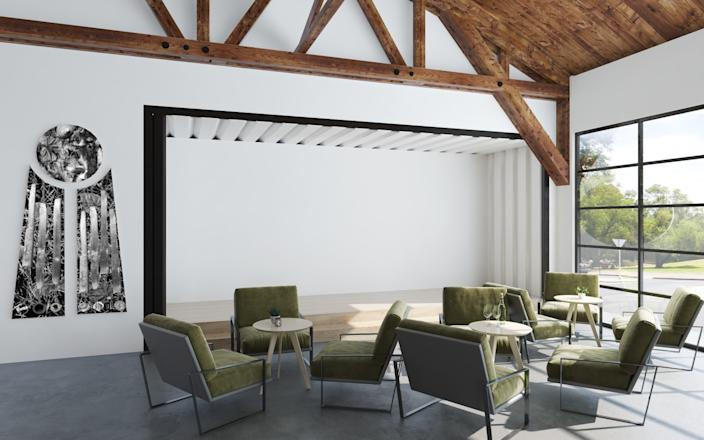 "A rendering of Compound's lounge area in the Warehouse. <span class=""copyright"">(CH Design Studio)</span>"