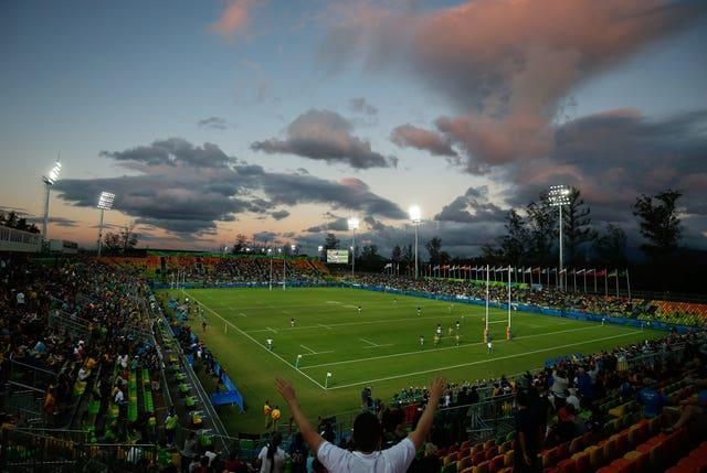 Rugby sevens action at the 2016 Rio Olympic Games