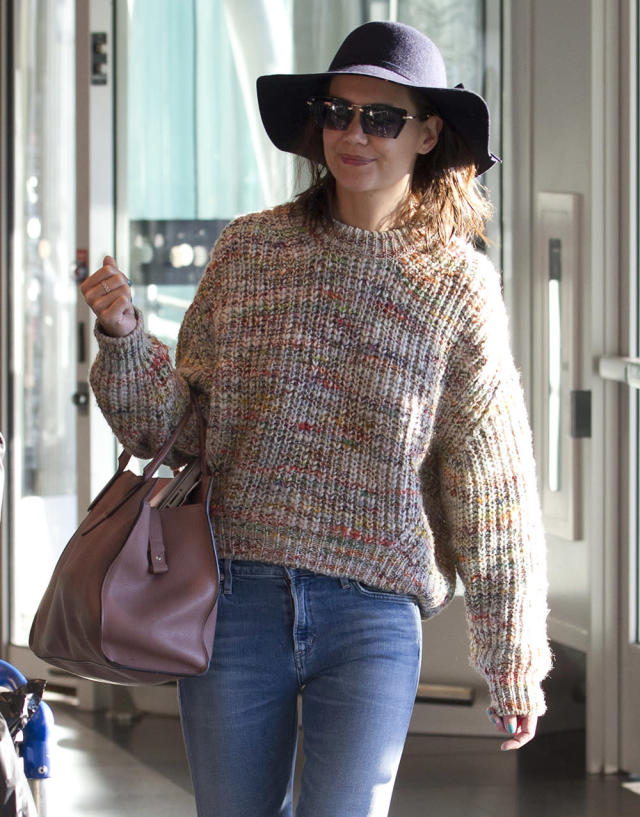 Katie Holmes wearing Privé Revaux. (Photo: Splash)