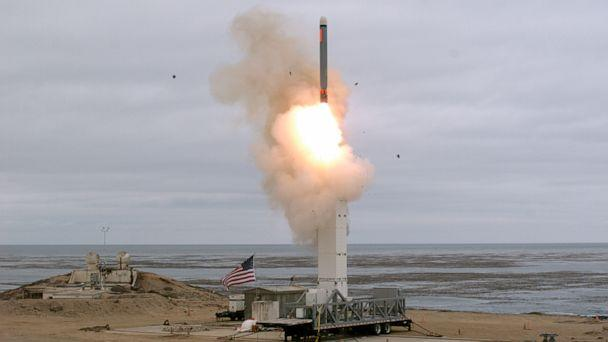 PHOTO: On Aug. 18, at 2:30 p.m. the Defense Department conducted a flight test of a conventionally configured ground-launched cruise missile at San Nicolas Island, Calif. (Scott Howe/Defense.gov)