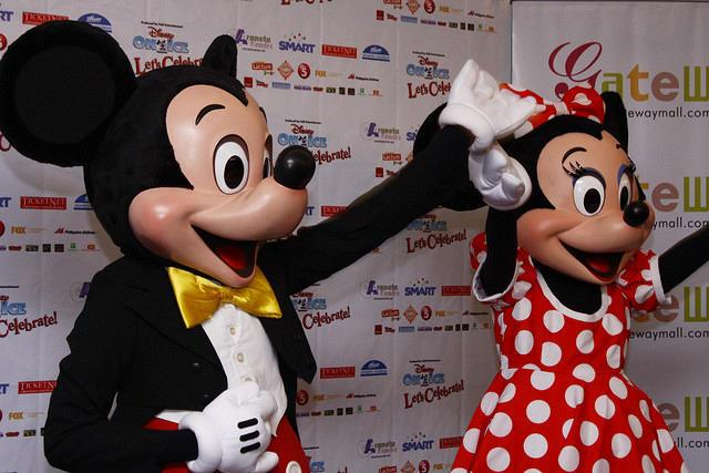 "Mickey and Minnie appears to the media during a press conference at Gateway Suites in Quezon City, northeast of Manila. This Christmas, Feld Entertainment brings once again, ""Disney on Ice: Let's Celebrate!"" at the Big Dome with more than fifty favorite Disney characters. The all-new production will showcase a magical medley of holidays and celebrations that will transform the Big Dome into a colossal party on ice. Disney on Ice will perform starting December 25 to January 3, 2011. (Marlo Cueto/NPPA Images)"