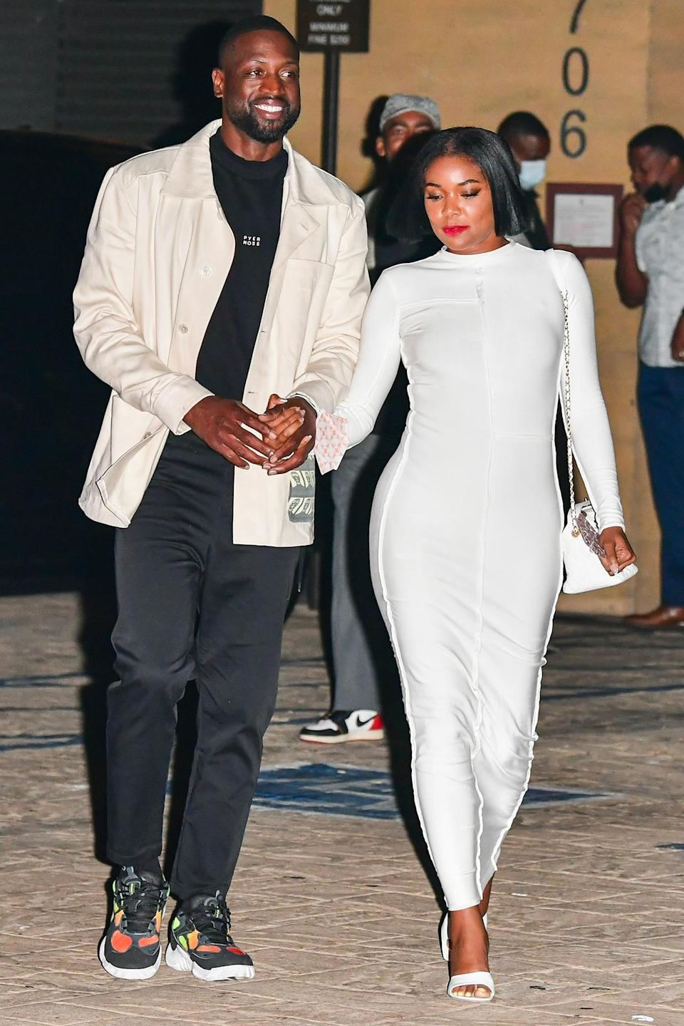 <p>Dwyane Wade and Gabrielle Union are spotted leaving their dinner date at Nobu in Malibu.</p>