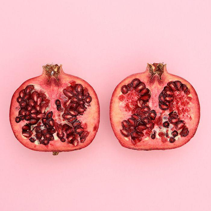 """<p>Whether you're a seed gal or prefer your pomegranates in juice-form, you're sure to reap the fruit's cholesterol-lowering powers: """"Any form of pomegranate — whether the arils or the juice — could help control cholesterol by slowing its buildup,"""" says <a href=""""http://amydgorin.com/"""" rel=""""nofollow noopener"""" target=""""_blank"""" data-ylk=""""slk:Amy Gorin"""" class=""""link rapid-noclick-resp"""">Amy Gorin</a>, MS, RDN, New Jersey-based dietitian and owner of Amy Gorin Nutrition. </p>"""