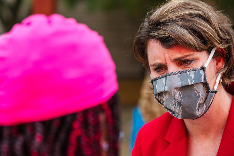Image: Kentucky Democratic Senate Candidate Amy McGrath Campaigns In Louisville (Jon Cherry / Getty Images)