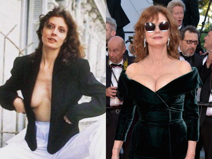 Susan Sarandon in Cannes, France, in 1978 and again in 2017.