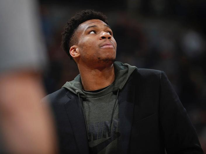 Giannis Antetokounmpo couldn't shoot a basketball when facilities closed.