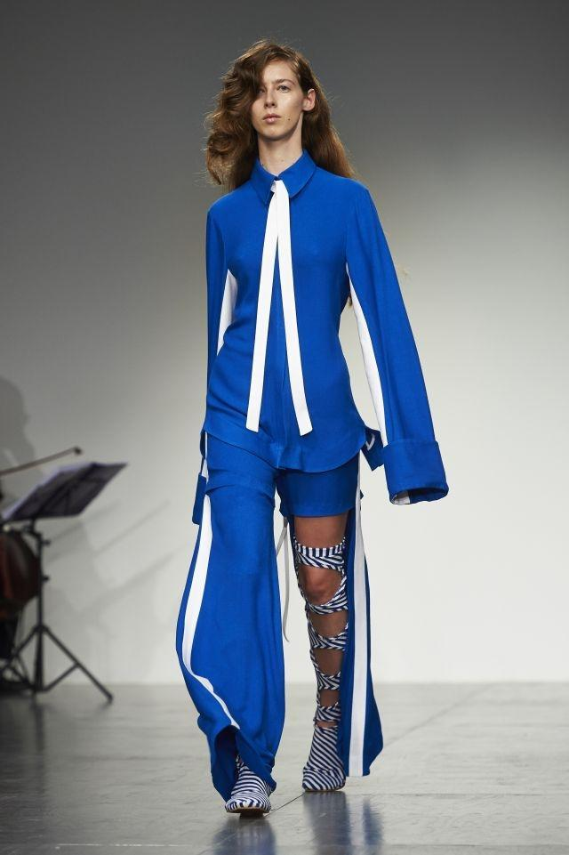 Blue and asymmetrical designs took center stage at Richard Malone - Spring/Summer 2018 Collection - London