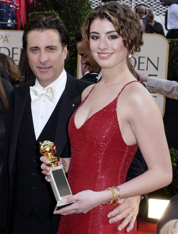 <p>Andy García arrives with daughter Dominik for the 2003 ceremony. The actress is best known for the 2012 Starz series 'Magic City.' (Photo: Kim D. Johnson/AP) </p>