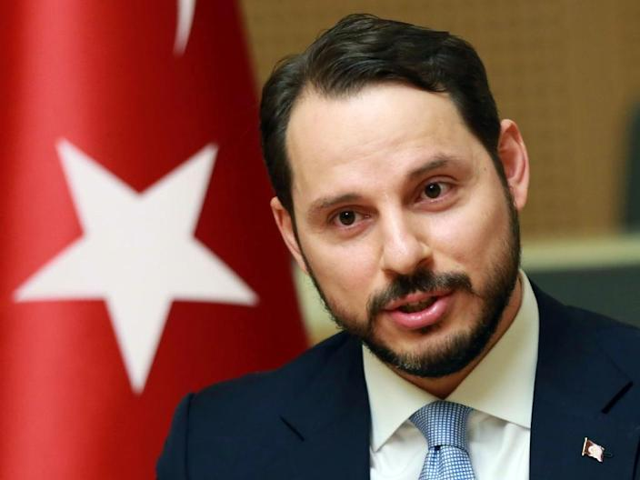 """Married to a daughter of Turkish President Recep Tayyip Erdogan, Berat Albayrak is often simply known as the """"damat"""" -- the son-in-law (AFP Photo/ADEM ALTAN)"""