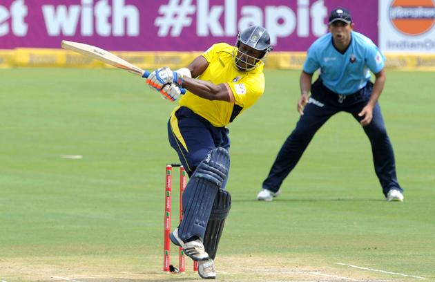 PRETORIA, SOUTH AFRICA - OCTOBER 10:  Michael Carberry of Hampshire in action during the Karbonn Smart CLT20 Champions League Twenty20 pre-tournament Qualifying Stage match between Hampshire Royals (England) and Auckland Aces (New Zealand) at SuperSport Park on October 10, 2012 in Pretoria, South Africa. (Photo by Lee Warren / Gallo Images/Getty Images)