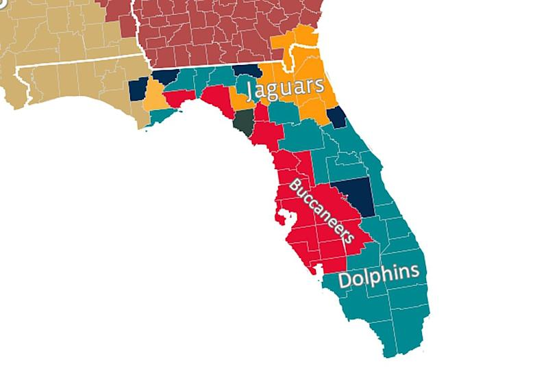 us map of pro football teams nfl cdoovision