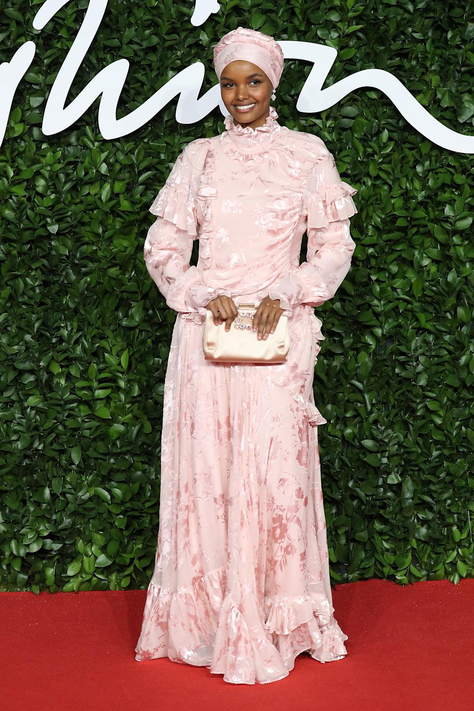 <p>Halima Aden at the British Fashion Awards</p>FilmMagic