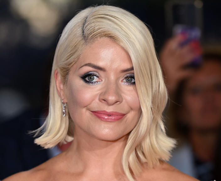LONDON, ENGLAND - SEPTEMBER 09: Holly Willoughby attends the National Television Awards 2021 at The O2 Arena on September 09, 2021 in London, England. (Photo by Karwai Tang/WireImage)
