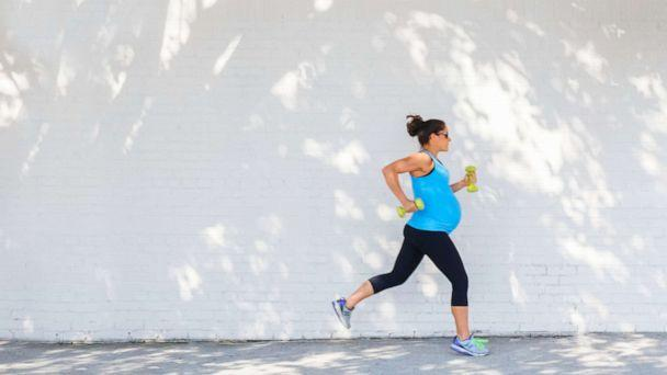PHOTO: In this file photo, a pregnant woman is shown jogging. (Getty Images)