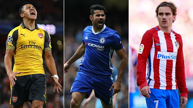 Alexis Sanchez, Diego Costa and Antoine Griezmann are making headlines in Friday's papers.