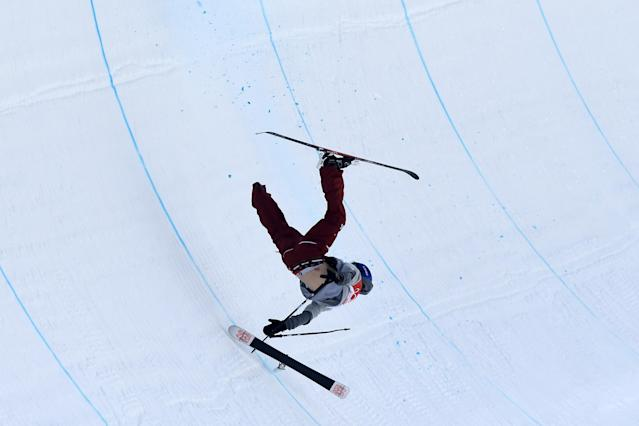<p>Torin Yater-Wallace of the United States crashes during the Freestyle Skiing Men's Ski Halfpipe Final on day thirteen of the PyeongChang 2018 Winter Olympic Games at Phoenix Snow Park on February 22, 2018 in Pyeongchang-gun, South Korea. (Photo by David Ramos/Getty Images) </p>