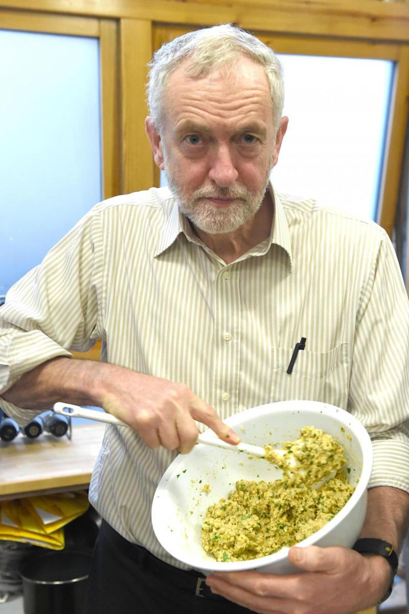 Foodie: Mr Corbyn said he has been anjoying trying more vegan food (JEREMY SELWYN)