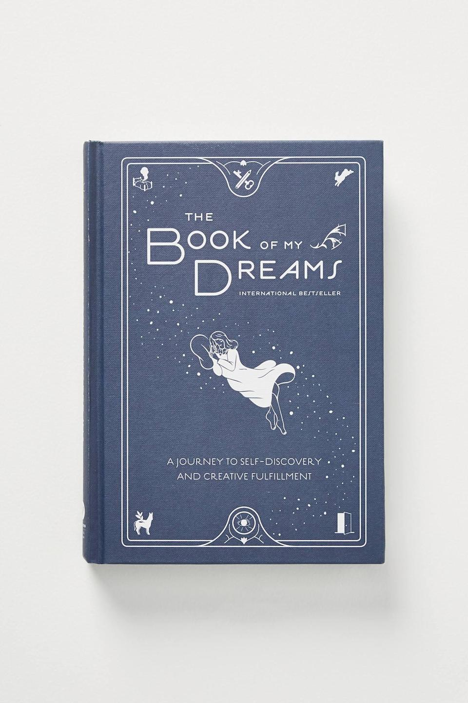 "<br><br><strong>Little Brown & Company</strong> The Book Of My Dreams, $, available at <a href=""https://go.skimresources.com/?id=30283X879131&url=https%3A%2F%2Fwww.anthropologie.com%2Fshop%2Fthe-book-of-my-dreams%3Fcolor%3D000%26type%3DSTANDARD%26size%3DOne%2520Size%26quantity%3D1"" rel=""nofollow noopener"" target=""_blank"" data-ylk=""slk:Anthropologie"" class=""link rapid-noclick-resp"">Anthropologie</a>"