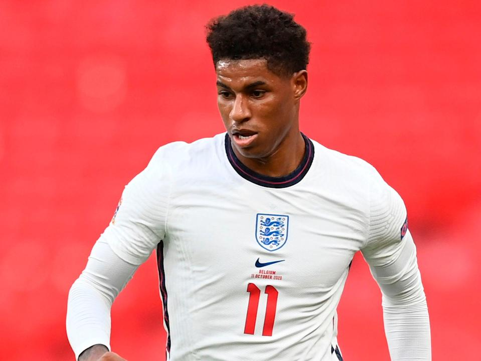 Marcus Rashford scored for England on Sunday (POOL/AFP via Getty Images)