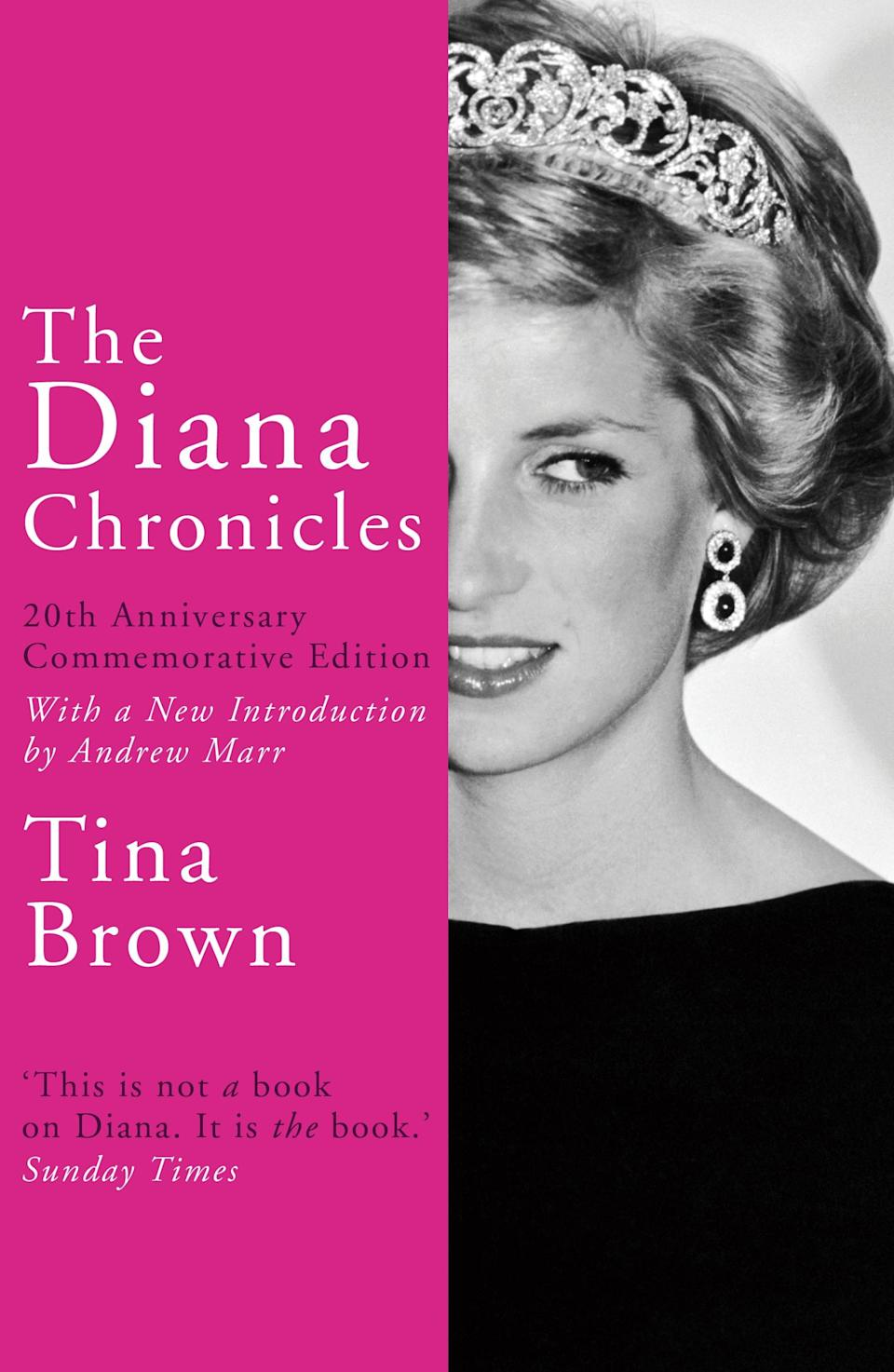 """<p>Described as """"not a book on Diana"""" but """"<em>the</em> book"""" by the Sunday Times, 'The Diana Chronicles' is a must for those wanting to find out more about the late Princess of Wales. And in celebration of the 20th anniversary, a commemorative edition is now available.<br><em><a rel=""""nofollow noopener"""" href=""""https://www.waterstones.com/book/the-diana-chronicles/tina-brown/9781784758868"""" target=""""_blank"""" data-ylk=""""slk:Waterstones"""" class=""""link rapid-noclick-resp"""">Waterstones</a>, £8.99</em> </p>"""