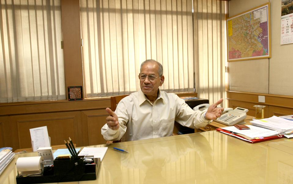 NEW DELHI, INDIA - OCTOBER 16, 2007: Metro CMD E. Sreedharan during an interview with HT at his office, on October 16, 2007 in New Delhi, India. (Photo by Sushil Kumar/Hindustan Times via Getty Images)
