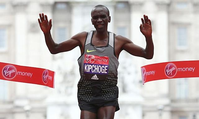 """<span class=""""element-image__caption"""">Eliud Kipchoge, of Kenya, won the London marathon in a course record in 2016.</span> <span class=""""element-image__credit"""">Photograph: Justin Tallis/AFP/Getty Images</span>"""