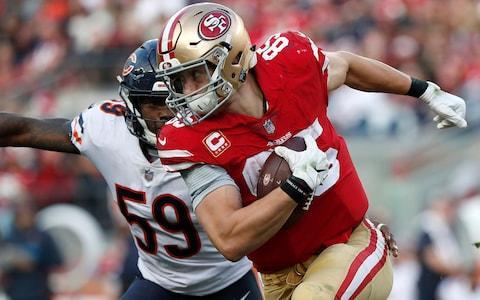 <span>Tight end George Kittle has starred for the 49ers in a tough season</span> <span>Credit: AP </span>