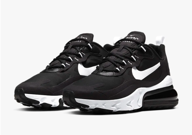 Women's Nike Air Max 270 React (Black/White)