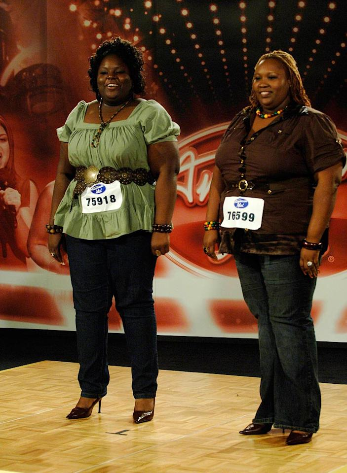 Miami Audition: L-R: Corliss Smith & Brittany Wescott perform in front of the judges on the 7th season of American Idol.