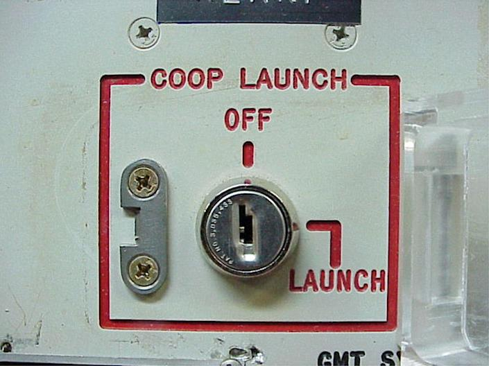 """FILE - This 2002 file photo provided by the National Park Service shows the launch key mechanism at the deactivated Delta Nine Launch Facility near Wall, S.D. The Air Force stripped an unprecedented 17 officers of their authority to control _ and if necessary launch _ nuclear missiles after a string of unpublicized and unacceptable failings, including a potential compromise of missile launch codes. The group's deputy commander said it is suffering """"rot"""" within its ranks. The tip-off to trouble was a March 2013 inspection of the 91st Missile Wing at Minot Air Force Base, N.D., which earned the equivalent of a """"D"""" grade when tested on its mastery of Minuteman III missile launch operations. (AP Photo/Minuteman Missile NHS)"""