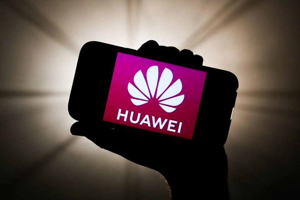 Huawei logo is seen displayed on a phone screen in this illustration photo taken in Krakow, Poland on December 27, 2019. (Photo by Jakub Porzycki/NurPhoto via Getty Images)