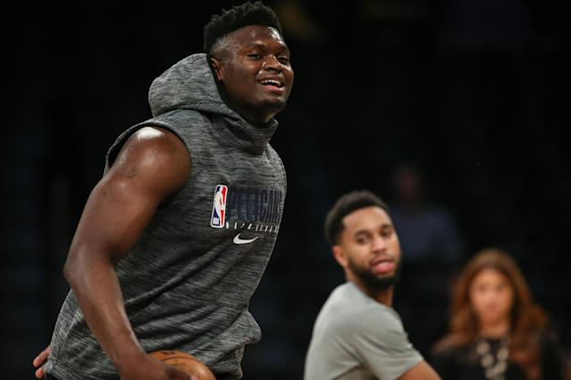 Pelicans forward Zion Williamson will make his NBA debut on Jan. 22. (Photo by Jevone Moore/Icon Sportswire via Getty Images)