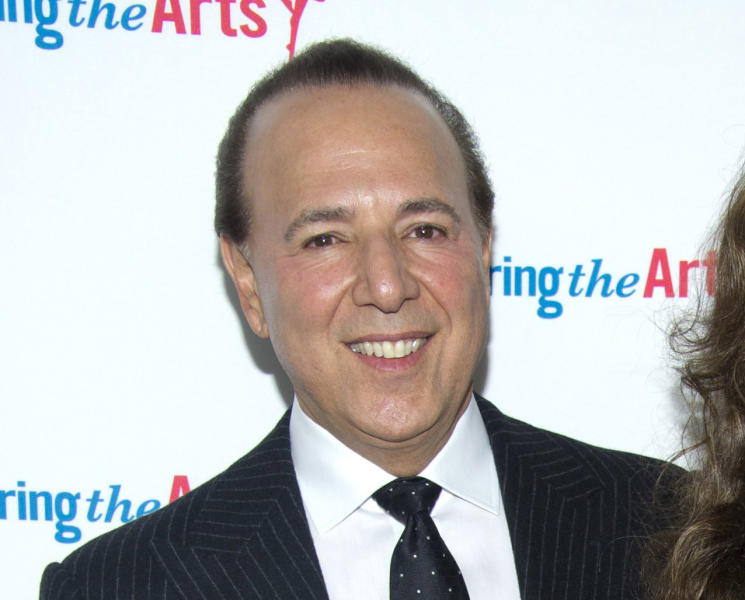 """FILE - This Sept. 18, 2011 file photo shows music mogul Tommy Mottola at Tony Bennett's 85th birthday gala in New York. A decade after leaving Sony Music Entertainment, Tommy Mottola tells his story in a new book, """"Hitmaker: The Man and His Music."""" (AP Photo/Charles Sykes, file)"""