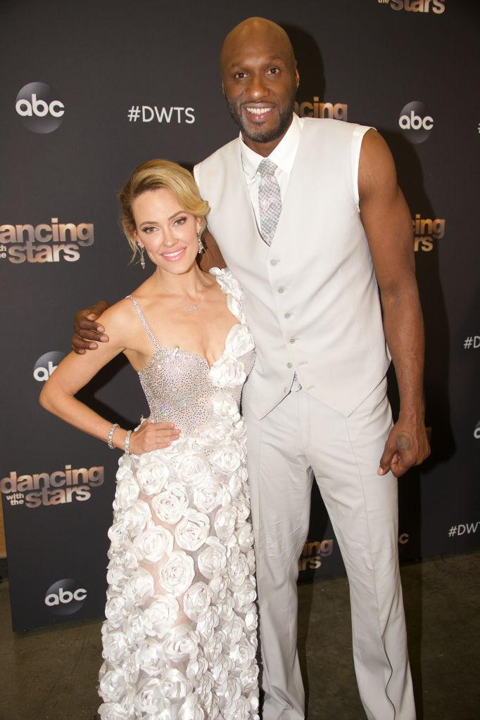 """Peta Murgatroyd and Lamar Odom compete on """"Dancing with the Stars"""" on Oct. 7. (Photo: Eric McCandless via Getty Images)"""