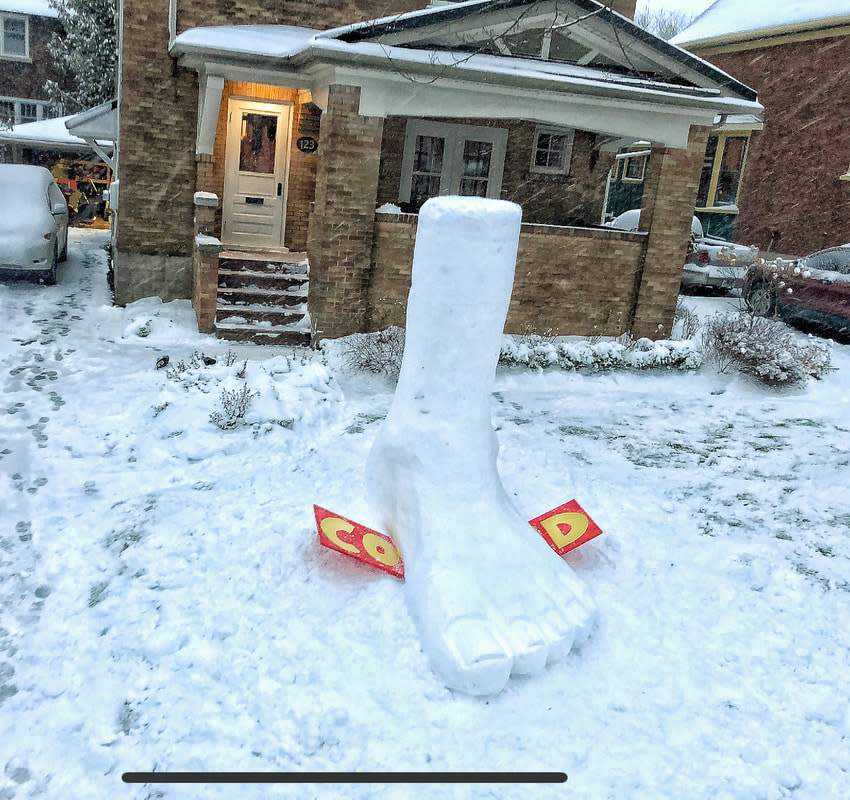 Cold sculpture - Matt Morris/Snowbank Productions. Submitted.