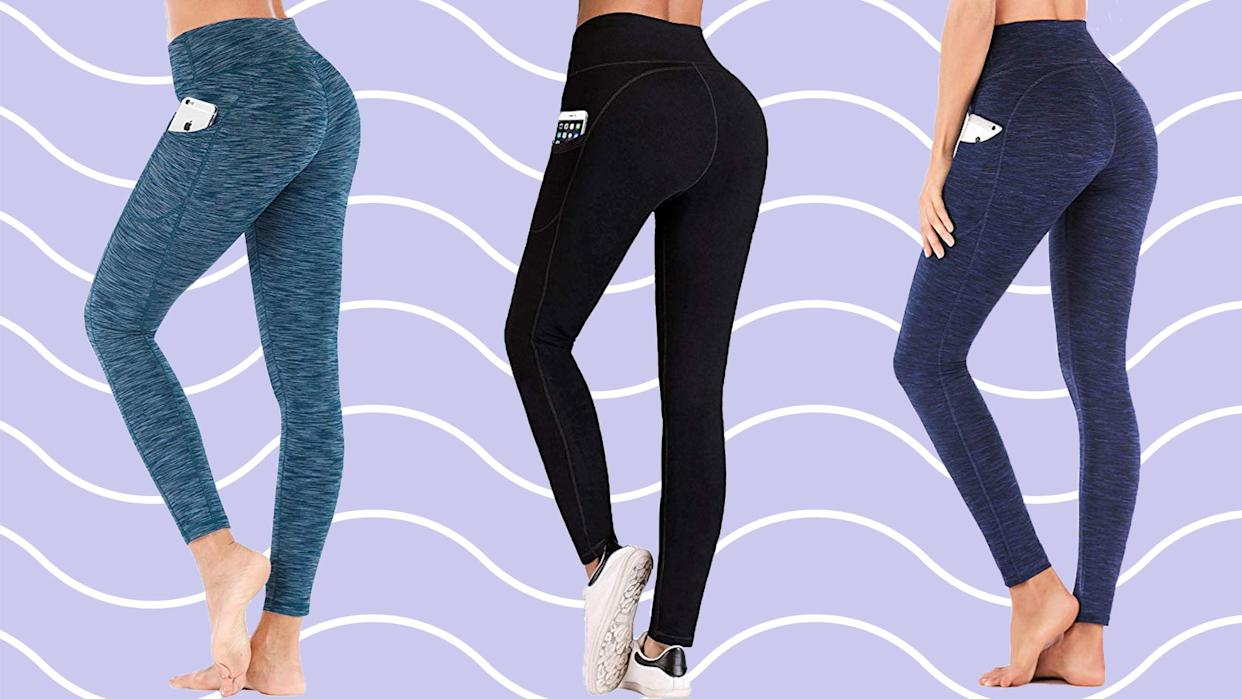 Thousands of shoppers are obsessed with these leggings. (Photo: Amazon)