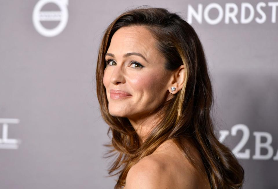 Jennifer Garner has regularly been photographed in earrings suggesting she may have been wearing clip-ons, pictured November 2019. (Getty Images)