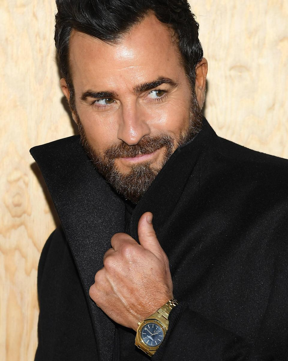 """<h1 class=""""title"""">October 1: Justin Theroux</h1> <div class=""""caption""""> Sometimes all a #BigFitoftheDay needs is a killer coat—and an even more killer watch. </div> <cite class=""""credit"""">Getty Images</cite>"""