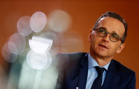FILE PHOTO:  German Foreign Minister Heiko Maas attends the weekly cabinet meeting in Berlin
