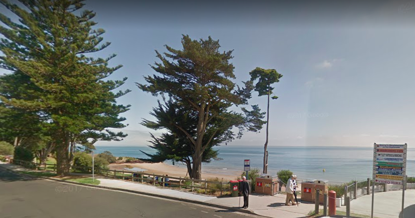 The death has rocked the seaside town of Cowes on Phillip Island. Source: Google Maps