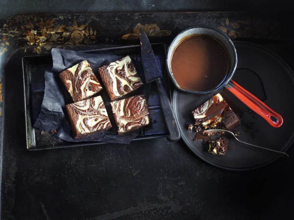 "<p>Who needs red velvet when you've got its darker sibling – black velvet? Rich and decadent, you can even use the leftover stout from these <a href=""http://www.waitrose.com/content/waitrose/en/home/recipes/recipe_directory/b/black-velvet-brownies.html"" rel=""nofollow noopener"" target=""_blank"" data-ylk=""slk:brownies"" class=""link rapid-noclick-resp"">brownies</a> to make a silky caramel sauce to serve with them. [Photo: <a href=""http://www.waitrose.com/baking"" rel=""nofollow noopener"" target=""_blank"" data-ylk=""slk:www.waitrose.com/baking"" class=""link rapid-noclick-resp"">www.waitrose.com/baking</a>] </p>"