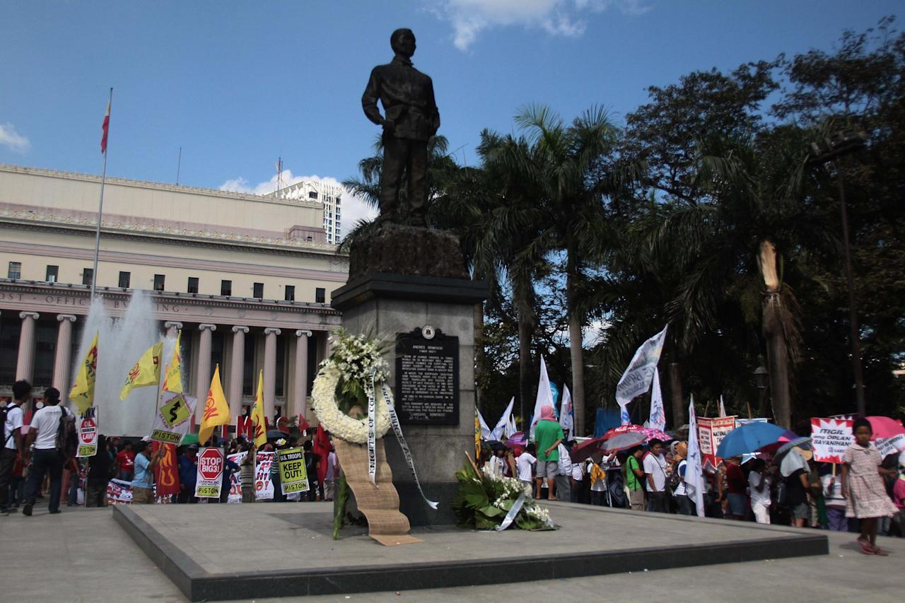 Various militant groups stage protests in Manila against continuing U.S. influence in the Philippines as the country observed Bonifacio Day Nov. 30. (George Calvelo, NPPA Images)