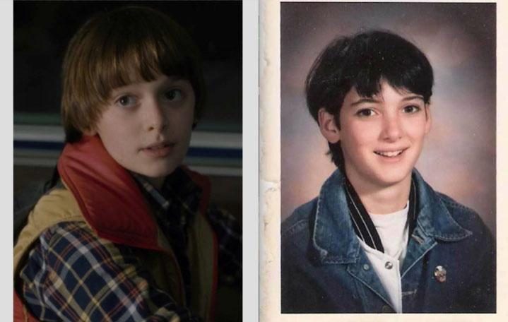 Meanwhile since this story emerged, fans have been drawing comparisons between a young Winona and Will from Stranger Things. Source: Netflix (L) and Elliot Tebele via Instagram (R)