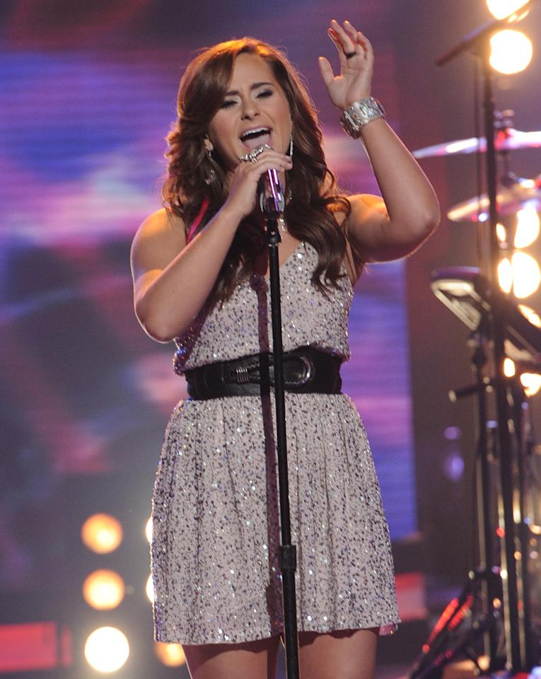 """Skylar Laine performs """"The Show Must Go On"""" by Queen on """"<a target=""""_blank"""" href=""""http://tv.yahoo.com/american-idol/show/34934"""">American Idol</a>."""""""