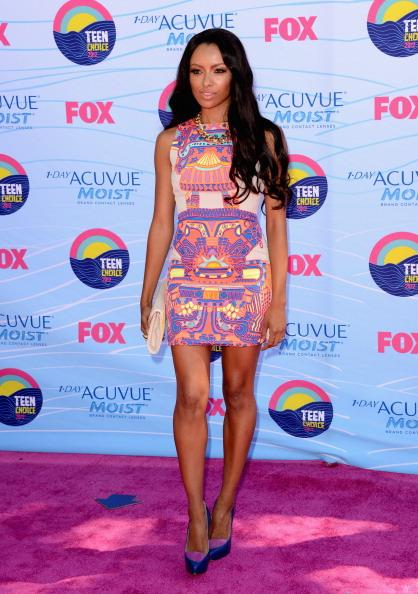 Actress Kat Graham arrives at the 2012 Teen Choice Awards at Gibson Amphitheatre on July 22, 2012 in Universal City, California. (Photo by Jason Merritt/Getty Images)